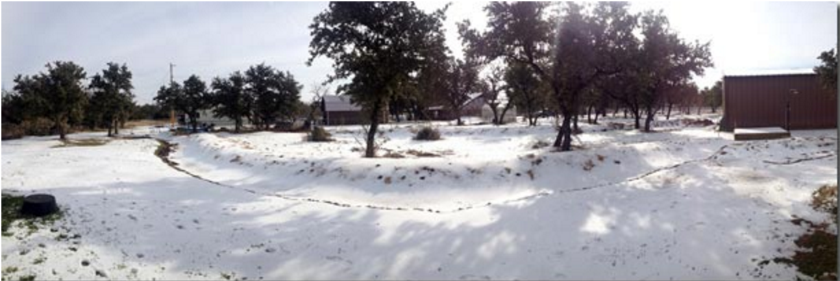 Photo of Swales Filled by Melting Ice and Snow (Texas, USA)