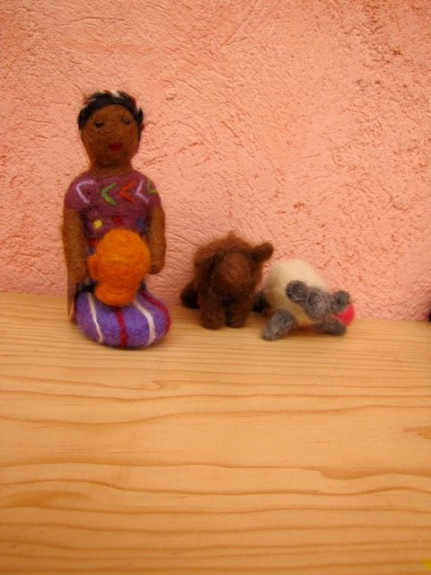 Felting Dolls from the Moms