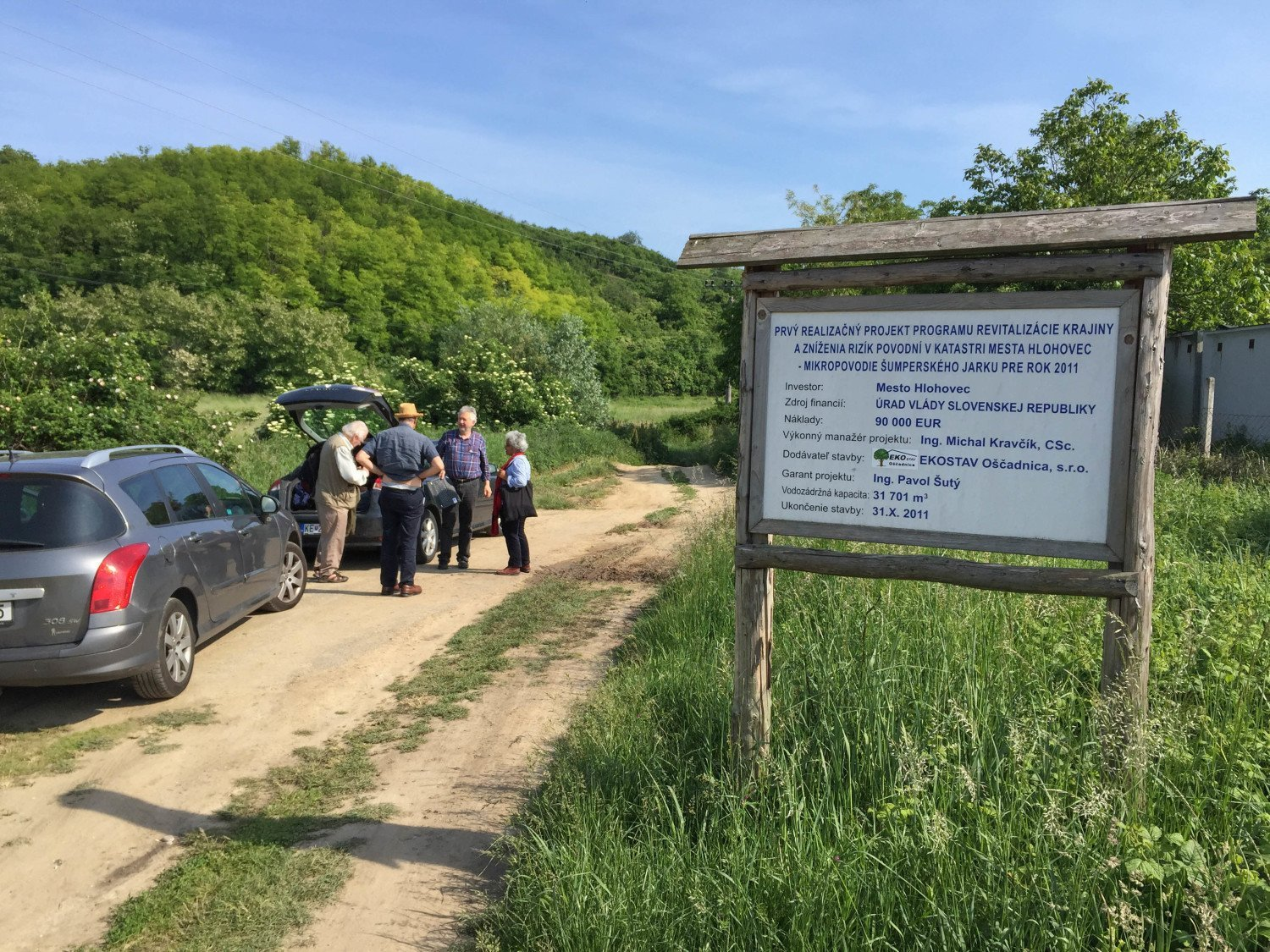 A (Slovakian) sign explaining the work that had been carried out in the first location we visited on our tour.