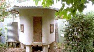 Insulated Straw bale Chicken Coop