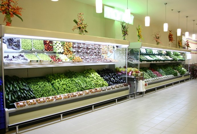 produce in supermarket