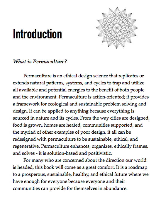 an excerpt from The Permaculture Student 2