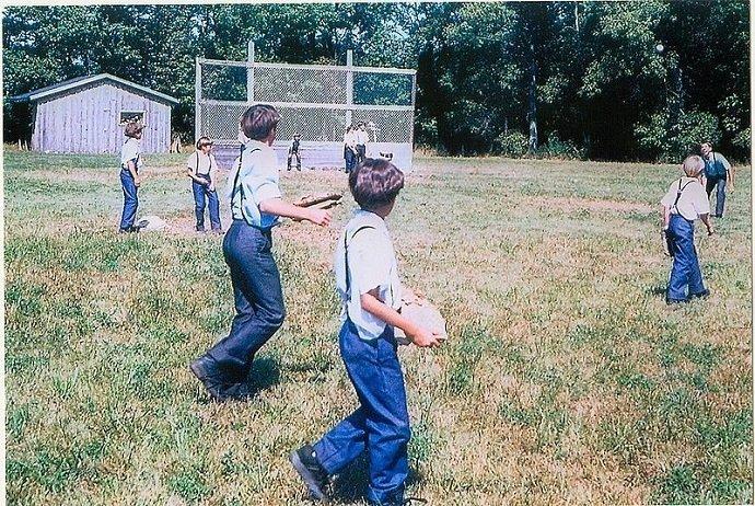 Image Attribution: Amish Children Playing Baseball: Ernest Mettendorf Free Image