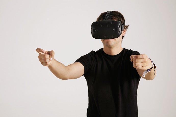 Gaming in VR glasses