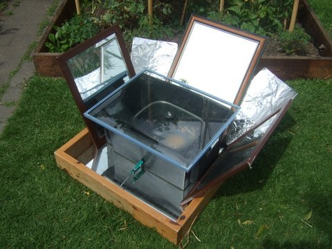 Leave room for the DIY solar oven – beats cooking inside on a hot day. Haven't used it this summer yet. It works well but it does require some shifting throughout the day to maximise sun exposure.