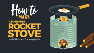 Photo of How to Make a Rocket Stove From 5 Tin Cans and Some Perlite – Infographic