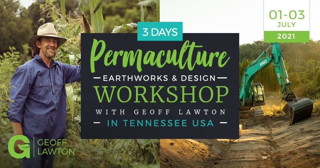 permaculture earthworks and design workshop in Tennessee with Geoff Lawton