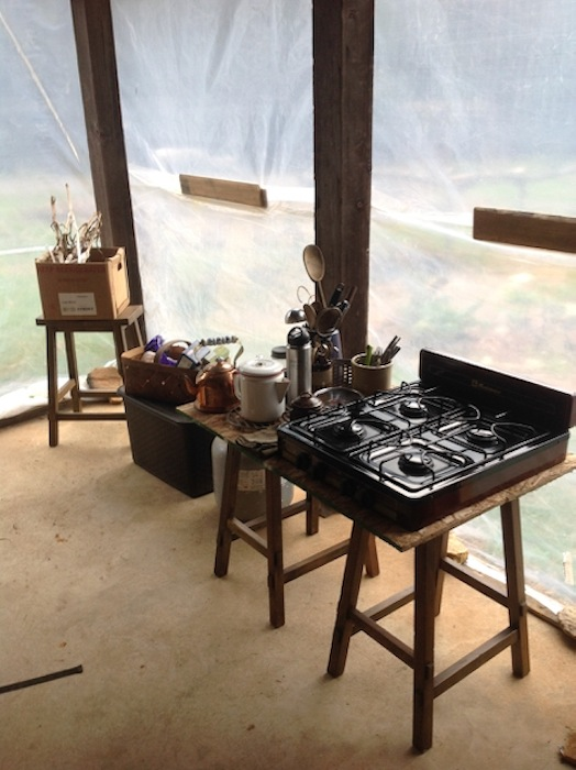 Lowly Kitchen Set-up in the Mud Room
